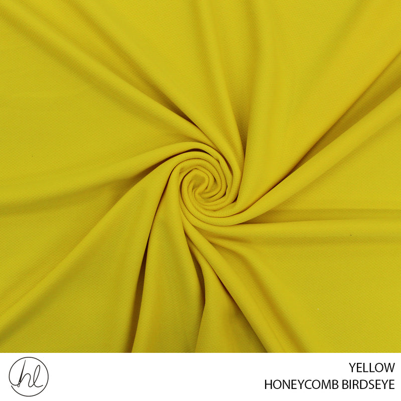 HONEYCOMB BIRDSEYE (YELLOW) (150CM) (PER M)
