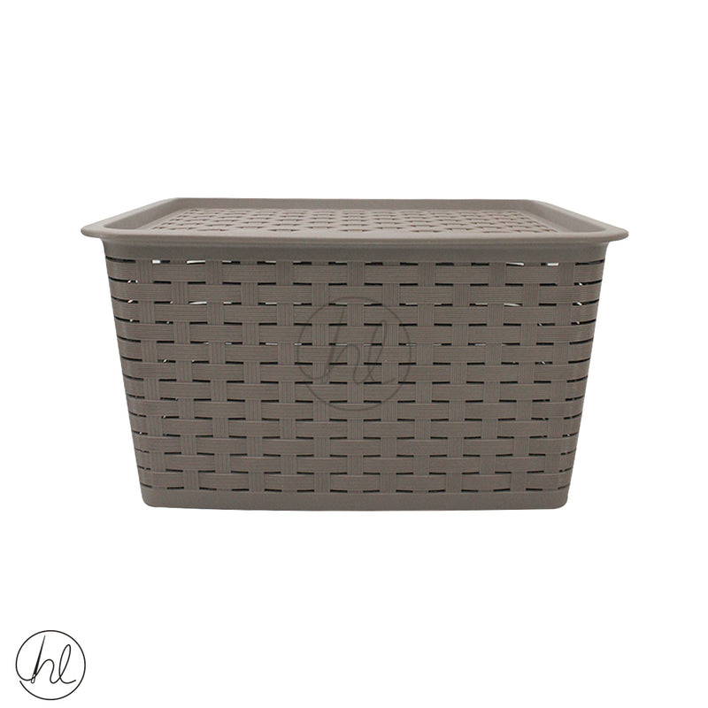 XL BASKET WITH LID (ABY-1367)
