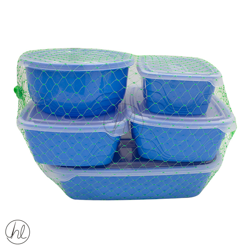 5 PIECE OTIMA CONTAINER SET (600ML, 1L, 1,2L, 2,2L)