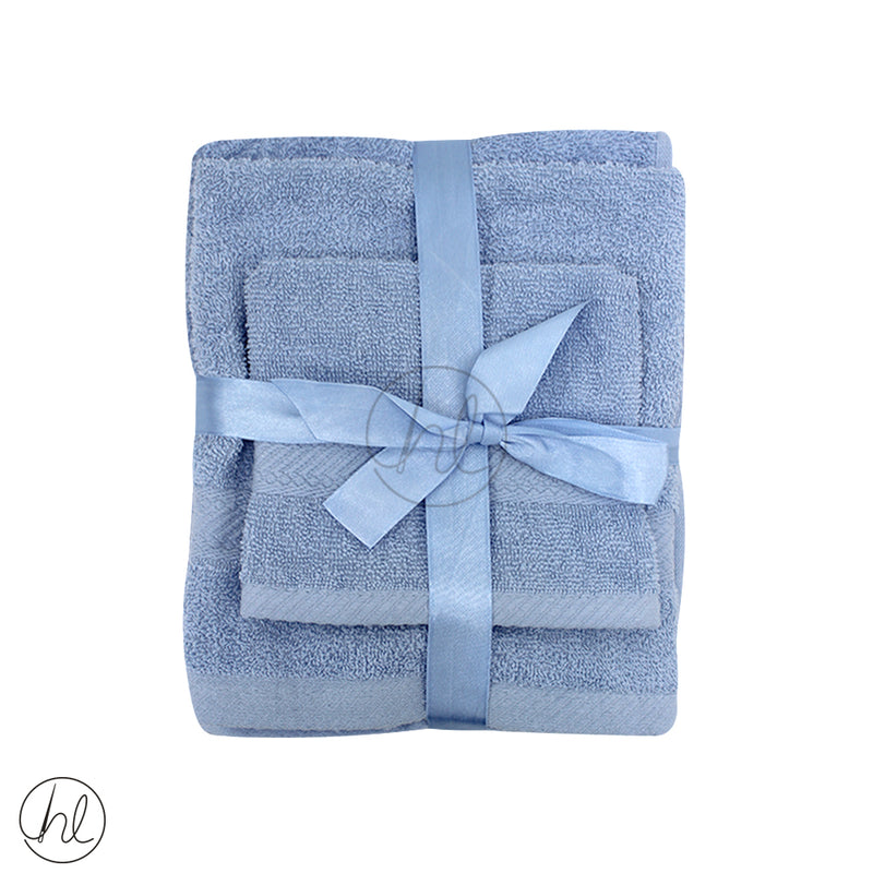 BRISTOL 3 PIECE TOWEL SET (FACE CLOTH, HAND TOWEL, BATH TOWEL)