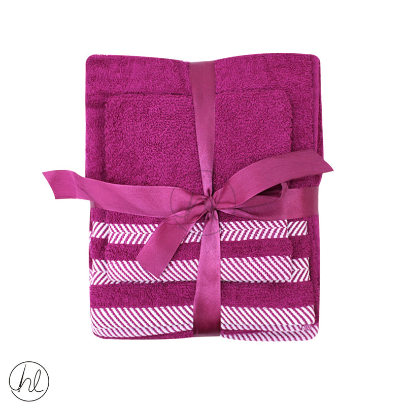 3 PIECE PLUSH TOWEL (FACE CLOTH, HAND TOWEL, BATH TOWEL)
