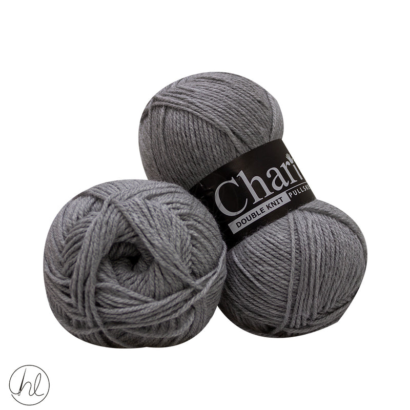 CHARITY PULLSKEIN DOUBLE KNIT 100G GREY 011