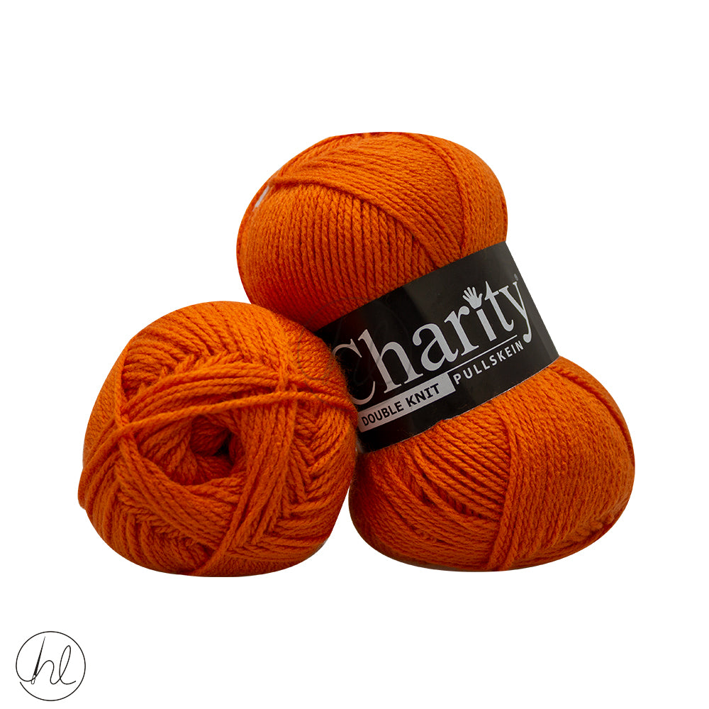 CHARITY PULLSKEIN DOUBLE KNIT 100G ORANGE 148