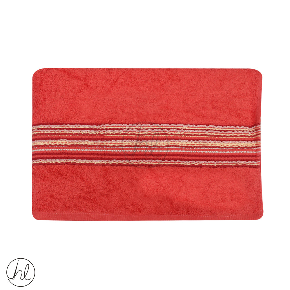 EMBROIDED CHENILLE BATH TOWELS (75X150)