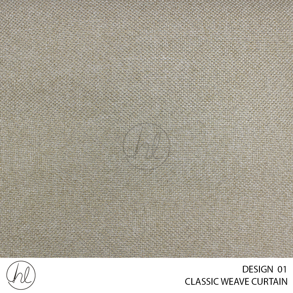 CLASSIC WEAVE CURTAIN (225X250) (TAUPE) (DESIGN 01)