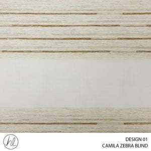 CAMILA ZEBRA BLIND (DESIGN 01) (LATTE)