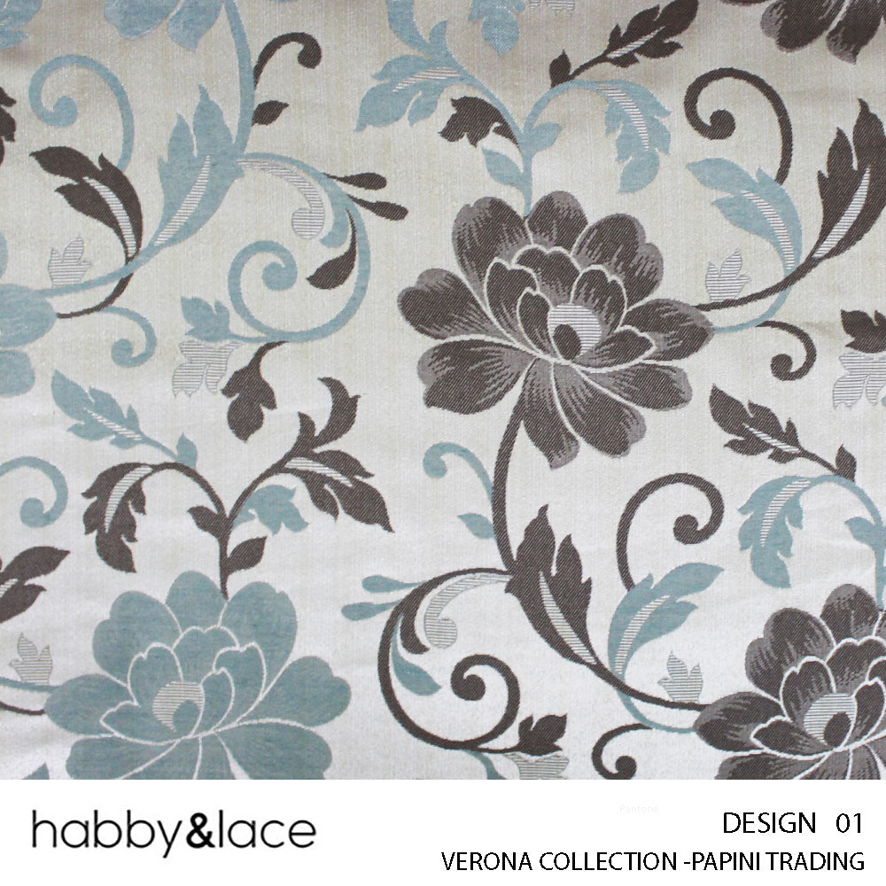 VERONA COLLECTION (DESIGN 01) (280CM) (PER M) (AQUA)