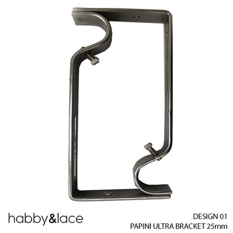 PAPINI ULTRA BRACKET (DESIGN 01) (25 MM) (S/STEEL)