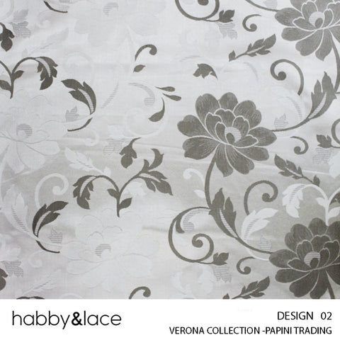 VERONA COLLECTION (DESIGN 02) (280CM) (PER M) (SlIVER)