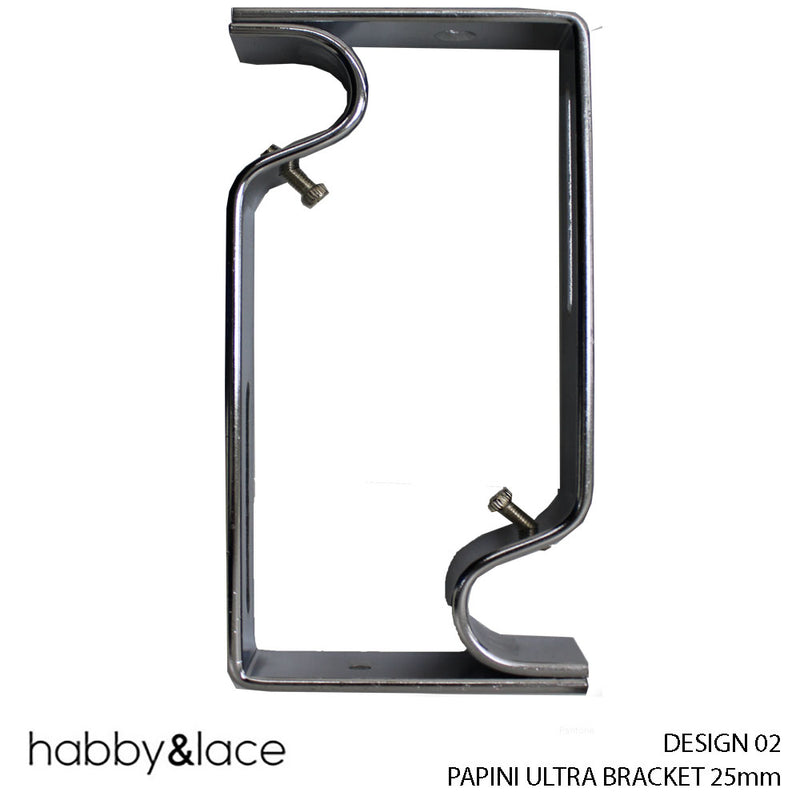 PAPINI ULTRA BRACKET (DESIGN 02) (25 MM) (CHROME)