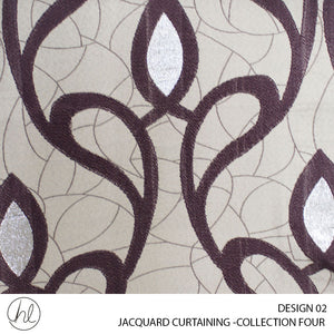 JACQUARD CURTAINING (COLLECTION FOUR) (DESIGN 02) (280CM) (PER M) (MAROON)