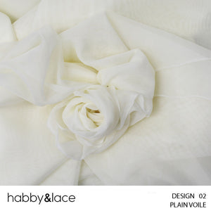 PLAIN VOILE (DESIGN 02) (300CM) (PER M) (CREAM)