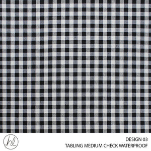 TABLING (MEDIUM CHECK WATERPROOFING) (DESIGN 03) (180CM) (PER M) (BLACK)