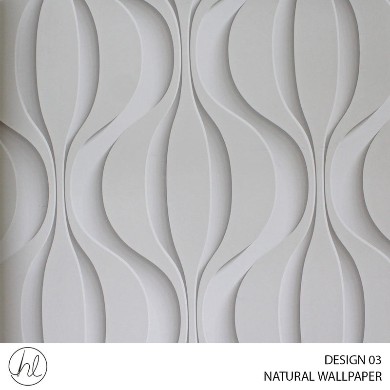 NATURAL WALLPAPER (DESIGN 03) (52CM X 10M) (PER ROLL)
