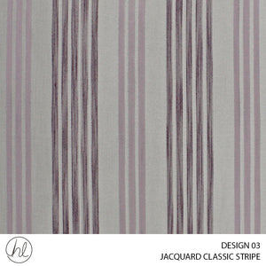 JACQUARD CLASSIC STRIPE (DESIGN 03) (280CM) (PER M) (PURPLE)