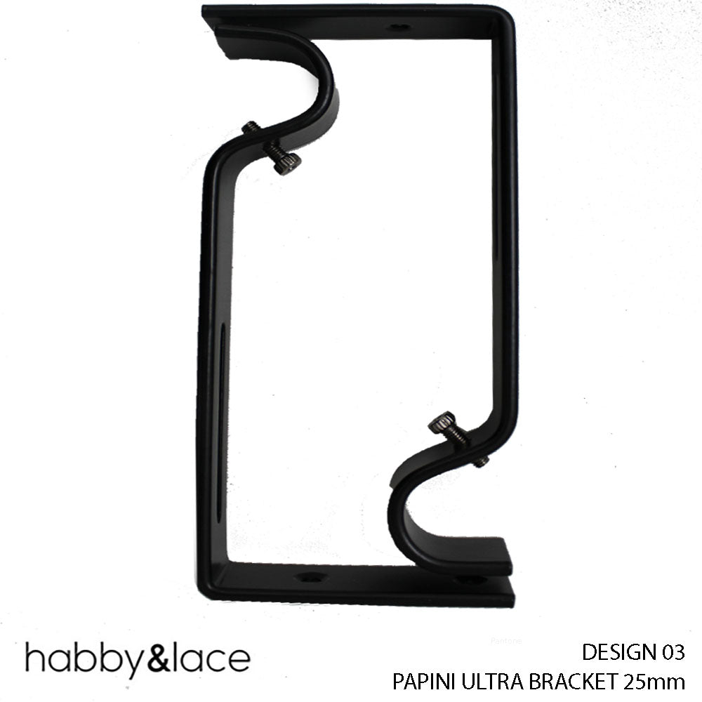 PAPINI ULTRA BRACKET (DESIGN 03) (25 MM) (BLACK)