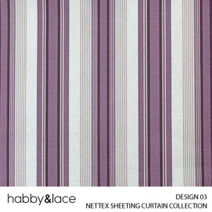 NETTEX SHEETING (CURTAIN COLLECTION) (DESIGN 03) (140CM) (PER M)