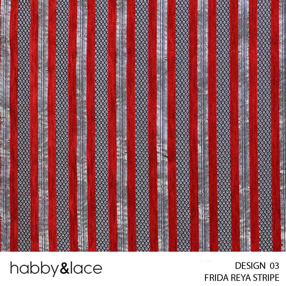 FRIDA REYA STRIPE UPHOLSTERY (DESIGN 03) (140CM) (PER M) (RED)