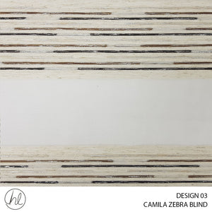 CAMILA ZEBRA BLIND (DESIGN 03) (WALNUT)