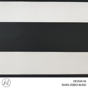 KIARA ZEBRA BLIND (DESIGN 04) (BLACK)
