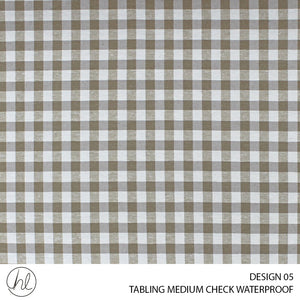 TABLING (MEDIUM CHECK WATERPROOFING) (DESIGN 05) (180CM) (PER M) (BEIGE)