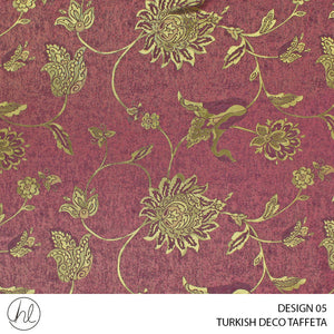 TURKISH DECO TAFFETA (DESIGN 05) (280CM) (PER M) (MAROON)