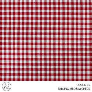 TABLING (MEDIUM CHECK) (DESIGN 05) (180CM) (PER M) (RED)
