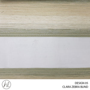 CLARA ZEBRA BLIND (DESIGN 05) (FERN)