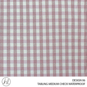 TABLING (MEDIUM CHECK WATERPROOFING) (DESIGN 06) (180CM) (PER M) (PINK)