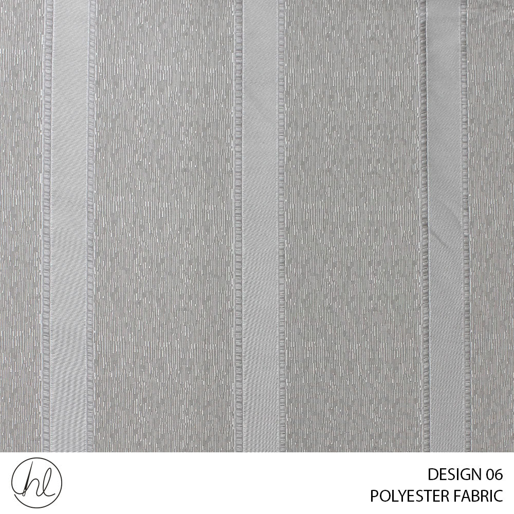 POLYESTER FABRIC (DESIGN 06) (300CM) (PER M) (DARK GREY)