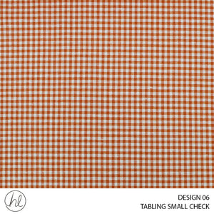TABLING (SMALL CHECK) (DESIGN 06) (180CM) (PER M) (ORANGE)