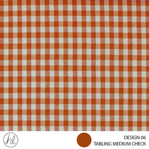 TABLING (MEDIUM CHECK) (DESIGN 06) (180CM) (PER M) (ORANGE)