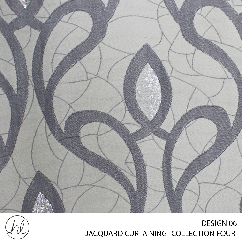 JACQUARD CURTAINING (COLLECTION FOUR) (DESIGN 06) (280CM) (PER M) (SLIVER)