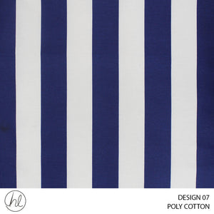 POLY-COTTON (DESIGN 07) (240CM) (PER M) (NAVY)