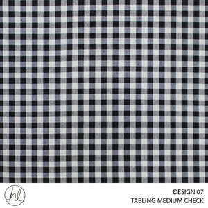 TABLING (MEDIUM CHECK) (DESIGN 07) (180CM) (PER M) (BLACK)