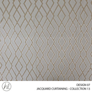 JACQUARD CURTAINING (COLLECTION THIRTEEN) (DESIGN 07) (280CM) (PER M) (GOLD)