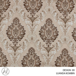 LUANDA KOMBIN (DESIGN 09) (140CM) (PER M) (DARK BROWN)