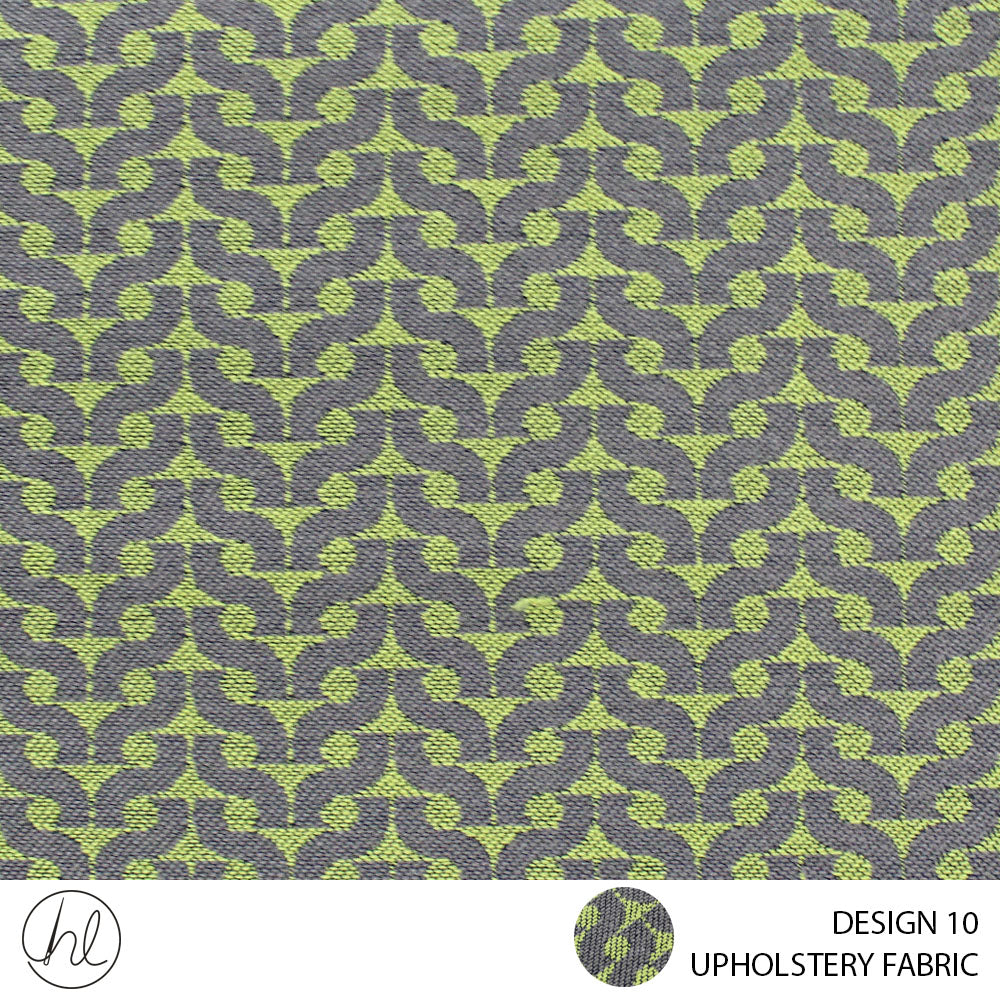 UPHOLSTERY FABRIC (PESTO) (DESIGN 10) (140CM) (PER M) (GREEN)