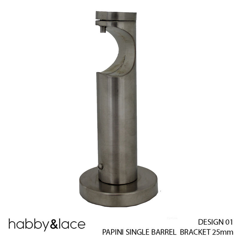PAPINI SINGLE BARREL BRACKET (DESIGN 01) (25MM) (S/STEEL)