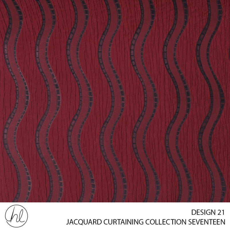 JACQUARD CURTAINING (COLLECTION SEVENTEEN) (DESIGN 21) (150CM) (PER M)