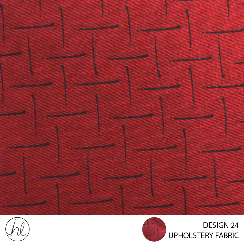 UPHOLSTERY FABRIC (URBAN) (DESIGN 24) (140CM) (PER M) (RED)