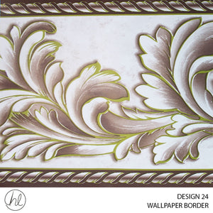 WALLPAPER BORDER (DESIGN 24) (10.6CMX10M) (PER ROLL)