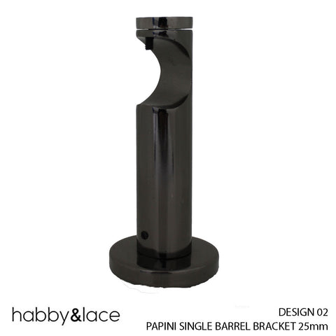 PAPINI SINGLE BARREL BRACKET (DESIGN 02) (25MM) (NICKLE)