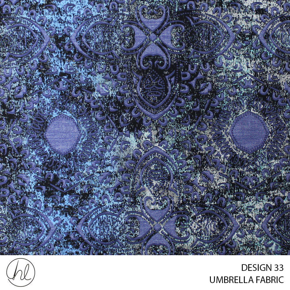UMBRELLA FABRIC (GRTFFIN) (DESIGN 33) (235CM) (PER M) (BLUE)