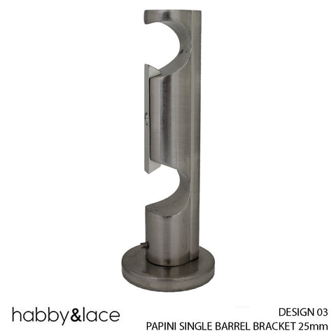 PAPINI SINGLE BARREL BRACKET (DESIGN 03) (25MM) (S/STEEL)