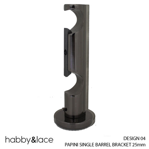 PAPINI SINGLE BARREL BRACKET (DESIGN 03) (25MM) (BLACK NICKLE)