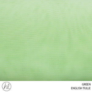 ENGLISH TULLE (GREEN) (150CM) (PER M)