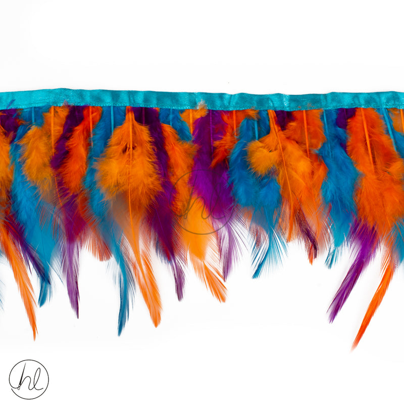 FEATHERS ASSORTED BLUE AND ORANGE