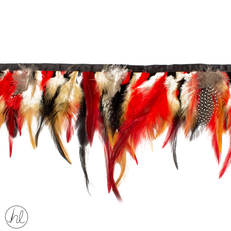 FEATHERS ASSORTED REDS