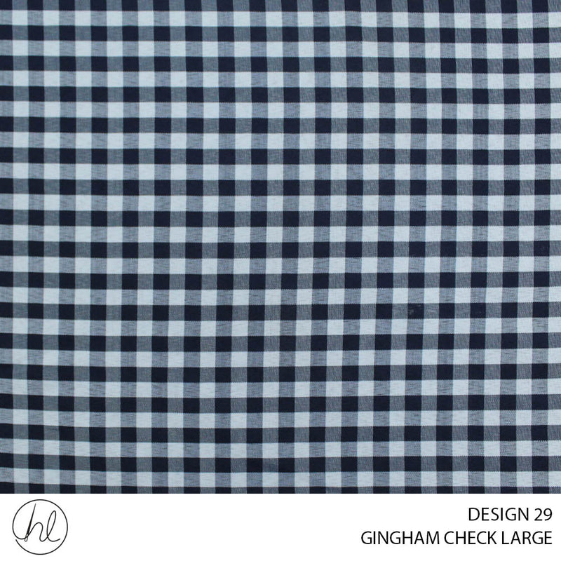 GINGHAM CHECK LARGE (DESIGN 29) (150CM) (PER M)51